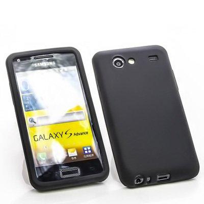 numerva Schutzhülle kompatibel mit Samsung Galaxy S Advance Hülle Silikon Handyhülle für Galaxy S Advance Case [Schwarz]