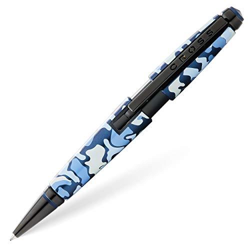 Cross AT0555-15 Bolígrafo Roller Ball Edge Camo Estampado de Camuflaje PVD, Azul/Negro