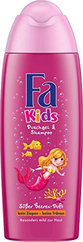 Fa Kids Douchegel en shampoo, zeemeermin, verpakking van 6 stuks (6 x 250 ml)