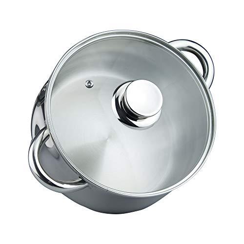 MAGEFESA Ideal – La Familia de Productos MAGEFESA Ideal está Fabricada en Acero Inoxidable 18/10, Compatible con Todo Tipo de Fuego. Fácil Limpieza y Apta lavavajillas. (Olla, 20_cm)