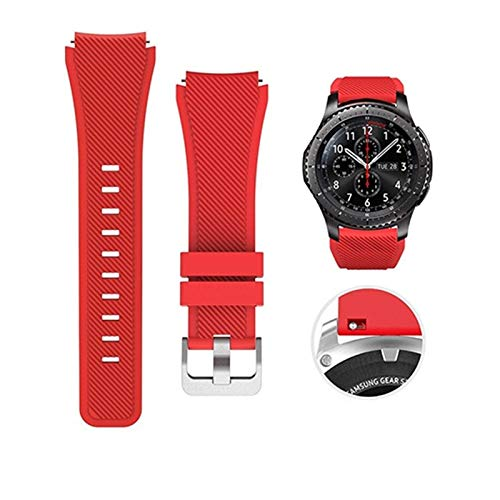 LYDBM Banda de Silicona de 22 mm para Samsung Galaxy Watch 46mm 42mm Correa Deportiva para Samsung Gear S3 Frontier/Clásico Activo 2 Huawei Watch 2 (Color : Color 12, Talla : For Other 20mm)