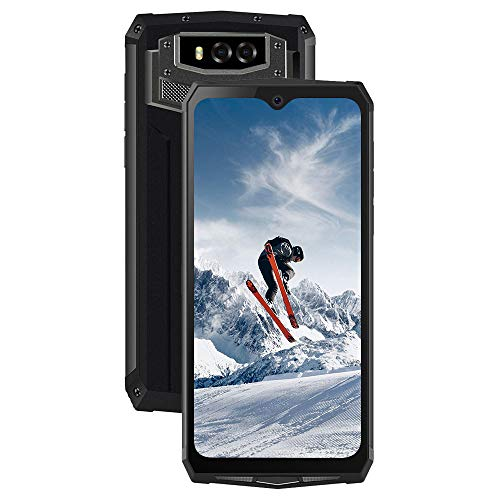 "Blackview BV9100 Móvil Resistente 13000mAh Batería 30W Carga Rápida (6.3"" FHD+ Waterdrop Screen, 4GB+64GB, 16MP+16MP, Dual SIM 4G, Android 9.0, Octa-Core, NFC, OTG, GPS) Móvil Antigolpes IP69K- Gris"