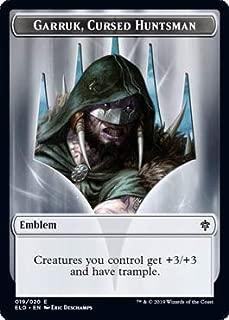 Magic: The Gathering - Garruk, Cursed Huntsman Emblem - Throne of Eldraine