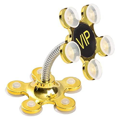 Soporte Móvil Coche ZWRY Soporte de Ventosa para tabletas de teléfono Celular Soporte Giratorio de 360 Grados Ventosa de Flor de Metal Soporte para teléfono móvil Soporte de Montaje en automóvil