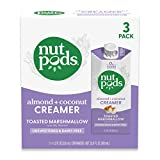 nutpods Toasted Marshmallow, (3-Pack), Unsweetened Dairy-Free Liquid Creamer, Made from Almonds and Coconuts, Whole30, Gluten Free, Non-GMO, Vegan, Kosher