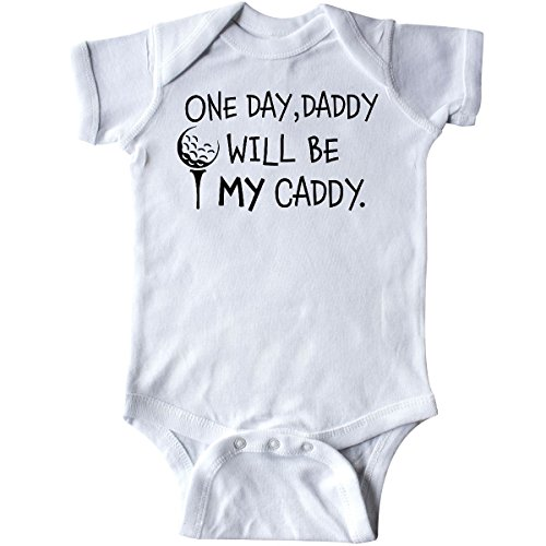 inktastic 1 Day, Daddy Will Be My Caddy- Infant Creeper Newborn White 2c49a