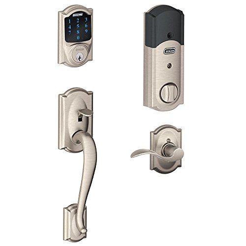 Schlage Connect Camelot Touchscreen Deadbolt with Built-In Alarm and Ha...