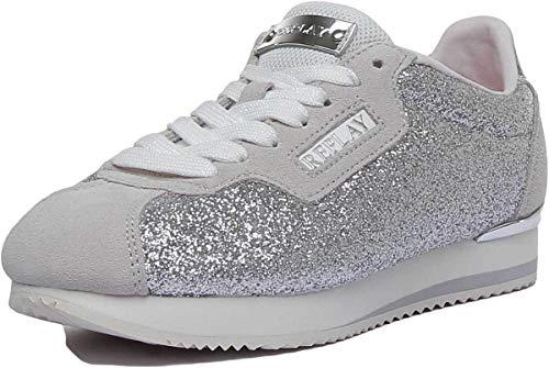 Replay Suerte Damen-Sportschuhe, Synthetik, silberfarben, Silber - silber - Größe: 36 EU