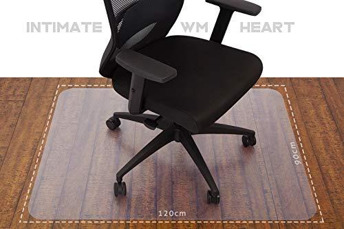 IWMH Bodenschutzmattetransparent,Anti-Lärm BürostuhlUnterlage90x120cm, Anti-Rutsch Teppich...