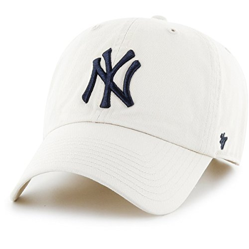 MLB New York Yankees Men's '47 Brand Clean Up Cap, Natural, One-Size