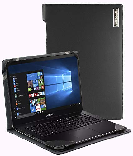 Broonel - Serie de perfiles - Estuche para De Cuero Negro Compatible con La ASUS Zenbook Pro UX550