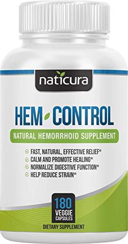 Naticura: Hem-Control Natural Hemorrhoid Supplement - Vegan Herbal...