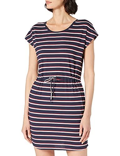 Vero Moda Vmapril SS Short Dress Ga Noos Vestido, Navy Blazer/Stripes:Kathy, M para Mujer