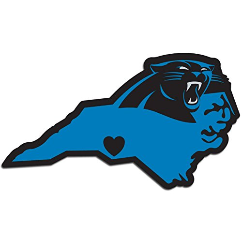 NFL Siskiyou Sports Fan Shop Carolina Panthers Home State Aufkleber One Size Team Farbe