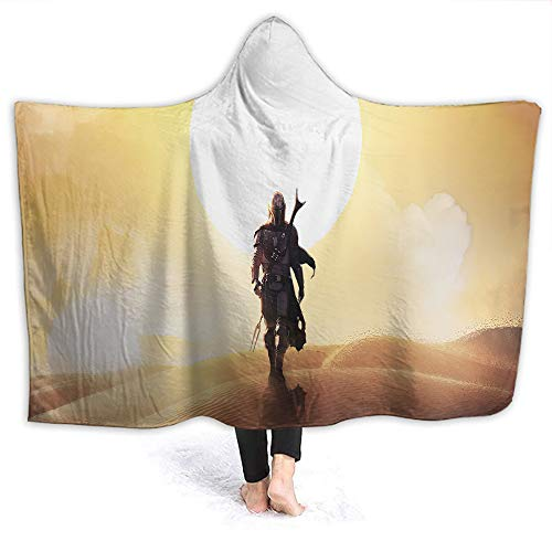 Star Wars Travel Hooded Blanket The Mandalorian and Baby Yo-da Microplush, Functional Kids Size 50 x 40 Inch