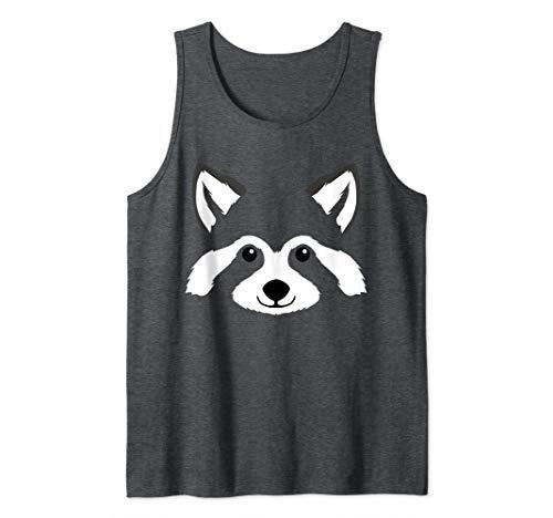 Raccoon Face Halloween Costume Gift Trash Panda Lover Cute Tank Top