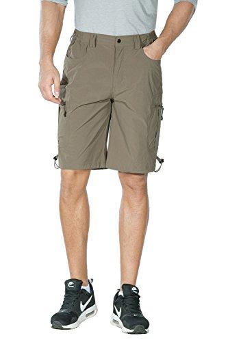 Unitop Herren Wander-Shorts, leicht, atmungsaktiv, weich, schnelltrocknend, Khaki, XS