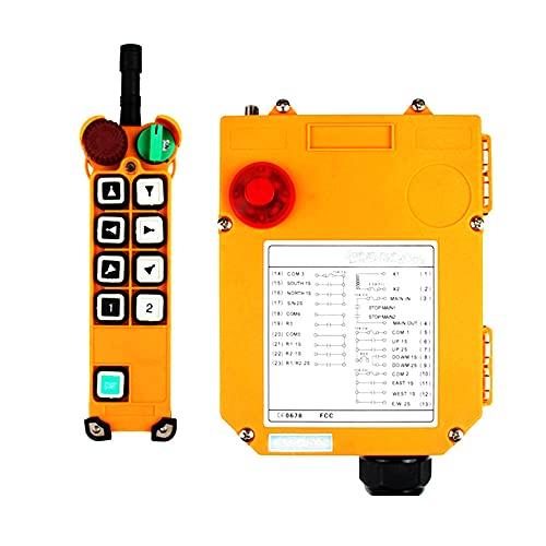 F24-8/10/12 Single/Dual Doble Velocidad 12V 24V 110V 220V 380V Radio inalámbrico industrial Radio Controlador remoto Interruptor para la conducción de la grúa,8 buttons Double speed UHF 868mhz,AC 380V