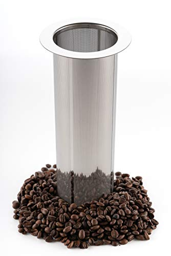 REPLACMENT FILTER ONLY - Original Grind Coffee Co. - Cold Brew Filter for 1 Gallon Mason Jars, Stainless-Steel Ultra Fine Mesh, Reusable Replacement Brewing Accessory, Supports Fresh Tea