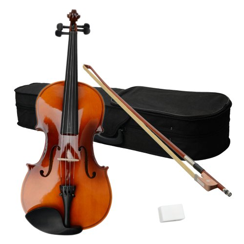 Festnight 16 Inch Acoustic Viola with Carrying Case,Bow,Rosin for Viola Beginner Student/Boys/Girls/Junior/Adult/Children/Youth Brown