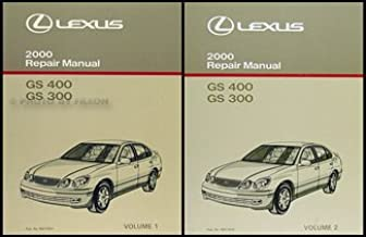 2000 LEXUS GS400 GS300 GS 400 GS 300 Service Repair Shop Manual Set DEALERSHIP (2 volume set, Electrical Wiring Diagram Manual, and the Automatic Transmission Manual)