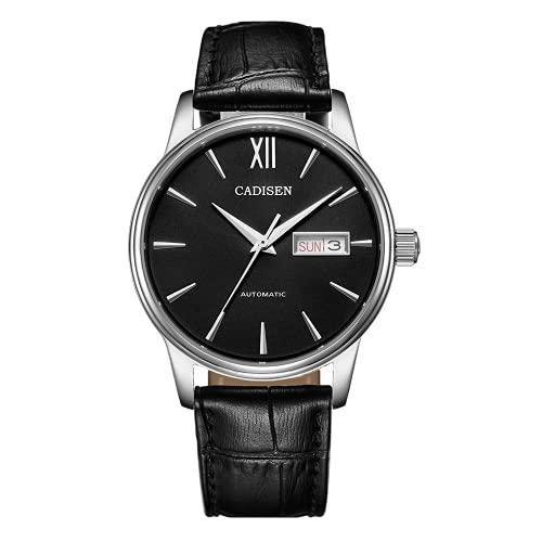 Reloj Mecánico para Hombre, Relojes Automáticos para Hombre, Japón NH36A, Función, Fecha, Semana, Reloj De Pulsera, Reloj, Reloj Masculino (Black Belt)