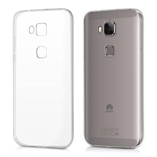REY Funda Carcasa Gel Transparente para Huawei G8 GX8 Ultra Fina 0,33mm, Silicona TPU de Alta Resistencia y Flexibilidad