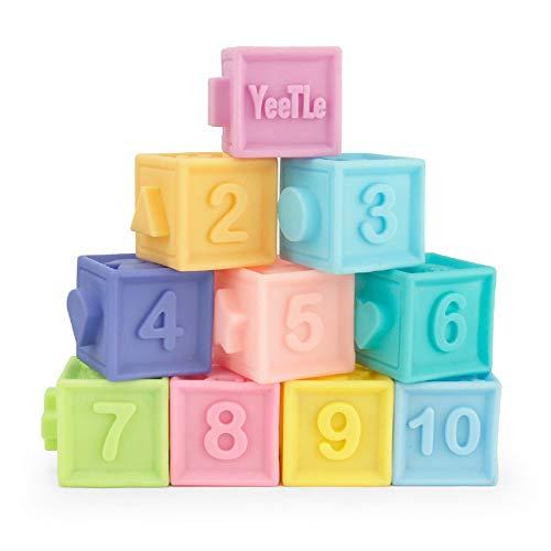 Best Ning Les Jouets éducatifs pour Enfants 3D Puzzle en Relief des Blocs de Caoutchouc Souple sûr Peuvent Mordre bébé Dents Gel Bain cognitif précoce Jouets d'éducation