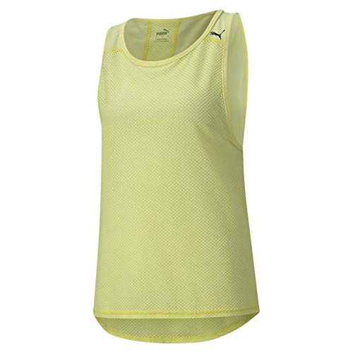 PUMA Train Mesh Tank Camiseta, Mujer, Soft Fluo Yellow, S