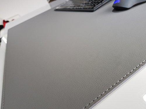 Schreibtischunterlage sanft lux Leder 70 x 50 Grau