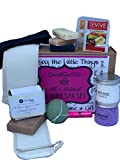 Spa Kit Relaxation Gift Set - Organic 11-Piece Kit With Handmade Soaps, Konjac Sponge, Organic Lip Balm and Much More - Luxurious Gift Baskets for Women