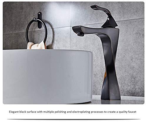 GHWZ Alle Copper Basin Taps badkamer toilet wastafel waterkraan warm en koud water mix Zwart-kraan