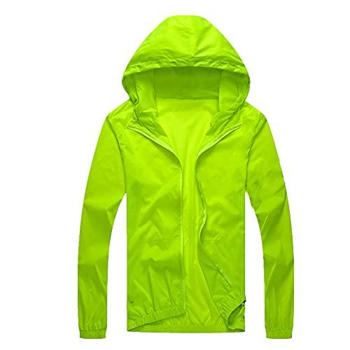 Hombres cortavientos verano protección solar chaqueta outwear deportes ciclismo slim hoo