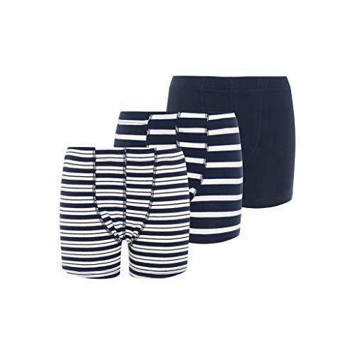NAME IT NOS Jungen NKMTIGHTS 3P Dress Blues NOOS Boxershorts, Mehrfarbig (Dark Sapphire), 122/128 (Herstellergröße: 122-128) (per of 3)