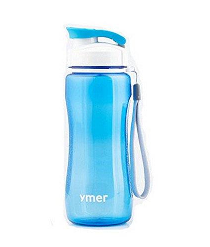 Belle bouteille bleue de l'eau avec String20.7 * 7CM, 560ml