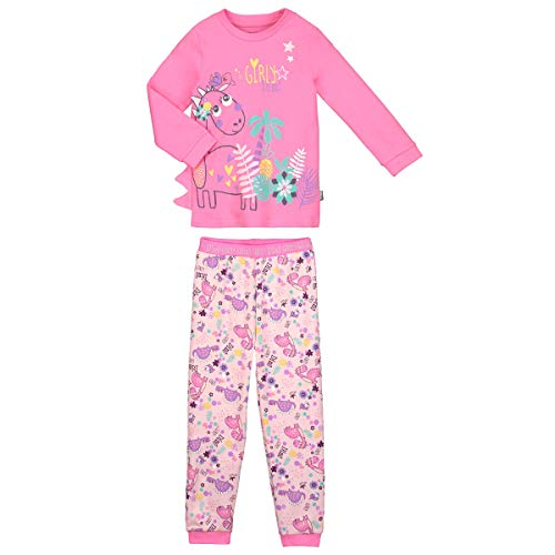 Petit Béguin - Pyjama fille manches longues rose Dino girl - Taille - 3 ans