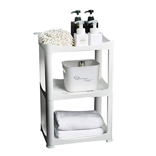 Plastic Shelf Storage Shelving Unit 3 Tier Storage Organizer Rack Bathroom Stackable Kitchen Organizer Tower Shelves