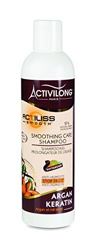Activilong Actiliss Smooth Shampooing Prolongateur de Lissage Argan et Kératine 250 ml