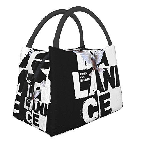 Bolsa térmica portátil Armin Van Buuren Balance para picnic, escuela, trabajo en la oficina, reutilizable, bolsa de almuerzo