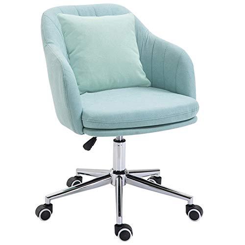 KYSZD-Uhren Arbeitsstuhl Gaming Chair Computer Schreibtischstuhl mit Rädern Mid-Back Leinen Verstellbarer Drehstuhl für Mädchen Home Working Adults Computer Chair