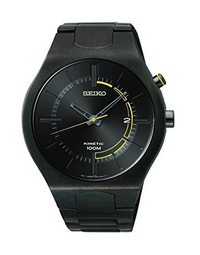 Seiko Men's SKA649 Analog Display Japanese Quartz Black Watch
