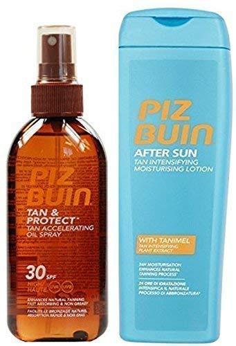 Piz Buin Tan Accélération Huile Spray F30+ Fauve Intensificateur Lotion Après-soleil