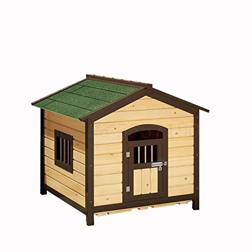 Kennel LKU Verkoolde kennel waterdichte zonwering anti-corrosie klein huis hondenhok voor buiten huisdier kennel, 65x65cm1,65x65cm