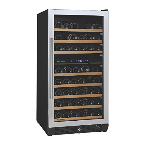 N'FINITY PRO M Dual Zone Wine Cellar Right Hinge - Stainless Steel Door