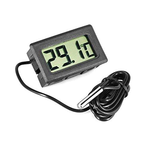 Marine Water - Mini Aquarium Lcd Digitale thermometer Display Fish Tank Water Marine 50 70 graden Centigrade Black - Gauge Quality Alarm Speakers Boat White Outlet Panel Marine Bottle Fish Test
