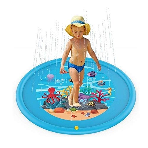 BIGSTAR Outdoor Water Fun Inflatable Water Spray Mat for Children Inflatable Water Spray Mat for Children Inflatable Outdoor Water Splash Mat Water Play Mat for Toys and Games Kids Toys (Color : R)