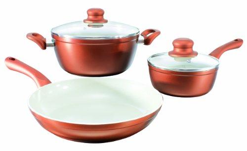 bratmaxx Ceramic Plus Koch- und Bratset - Kupferfarben