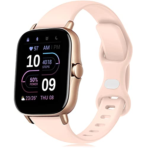 20mm Cinturino Amazfit GTS/Amazfit GTR 42mm Braccialetto, Silicone Sportivo Cinturino per Galaxy Watch4 44mm/40mm/Galaxy Watch4 Classic 46mm/42mm/Galaxy Watch Active 2 40mm 44mm/Galaxy Watch 3 41mm