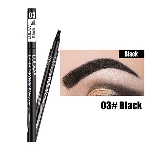 2020 Natural Four Heads Eyebrow Pen Eye Brow Tint Makeup Waterproof Eyebrow Pencil Black Grey Brush Sexy Cosmetics,03,China