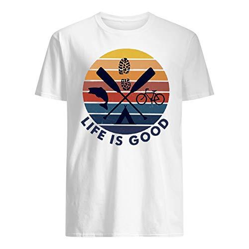 Leet Group Bicycle Kayaking Life is Good Vintage T-Shirt